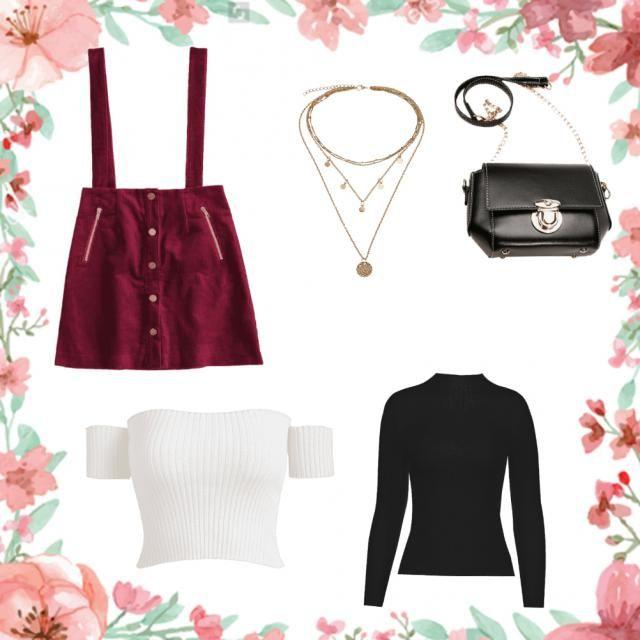 Falda de pana abotonada: Otoño/Invierno: usar un un saquito y botas (medias veladas opcional Primavera/Verano: usar con…