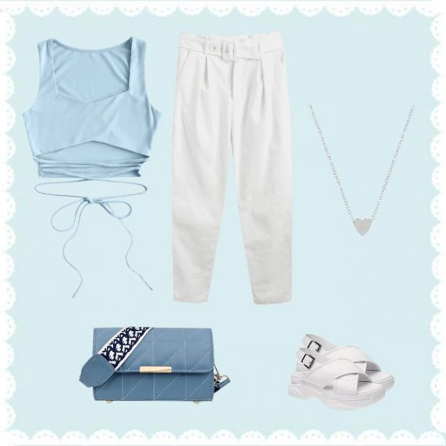 blue fashion 💙⚪✨