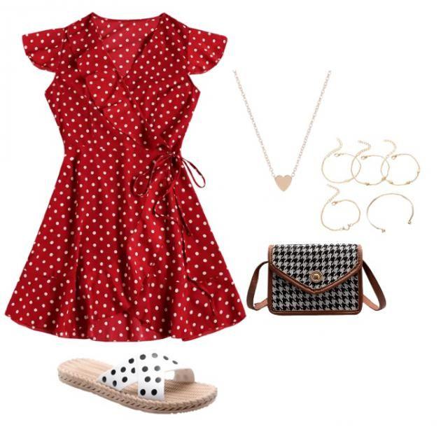 polka dots and love hearts 💖💖