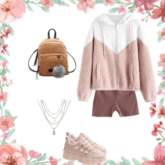 Long shirt with training shorts for home, And have with a bag on The beach, And some accesiories