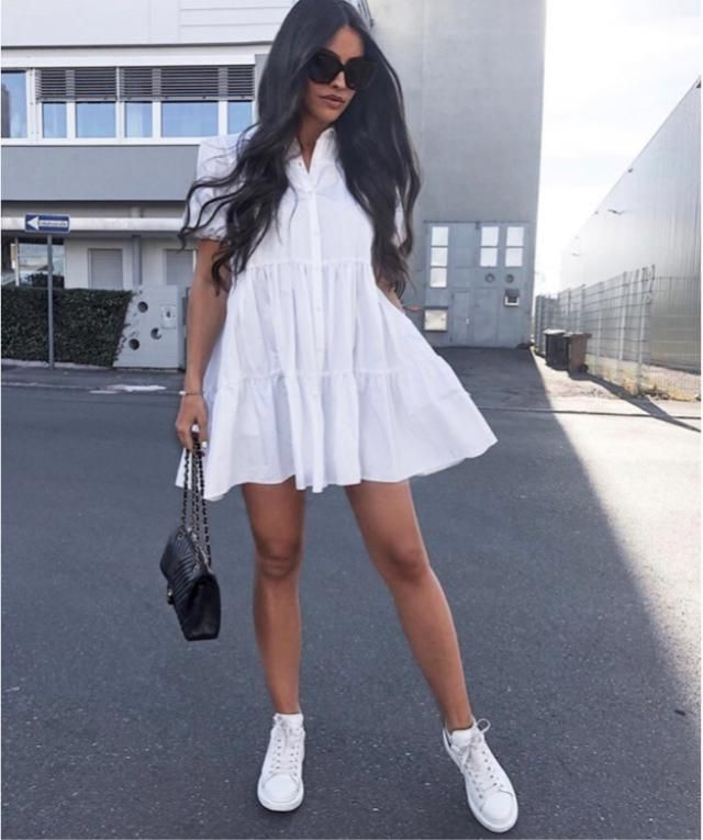 Will work with this dress when you feel comfortable in your white outfit