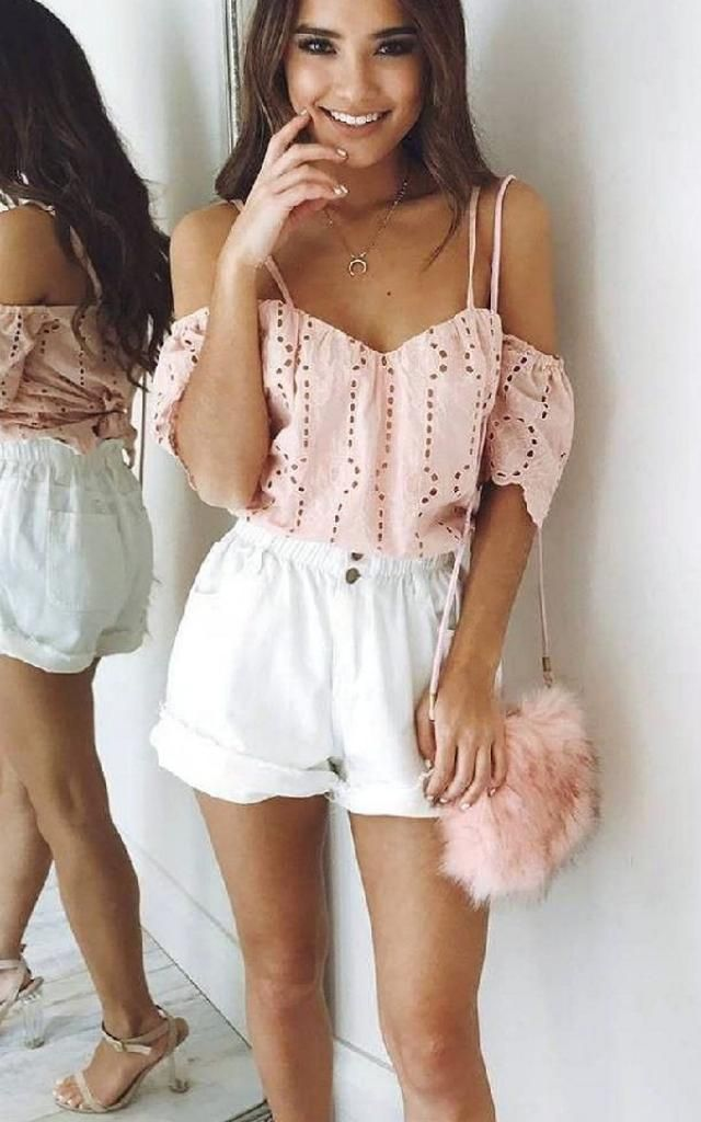 Stay on trend this season and mix up your wardrobe favourites such as eyelet top and paperbag shorts.      