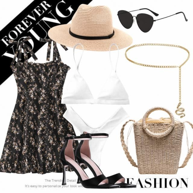 would you go with all of it or just with the dress, high heels and sunglasses 🖤