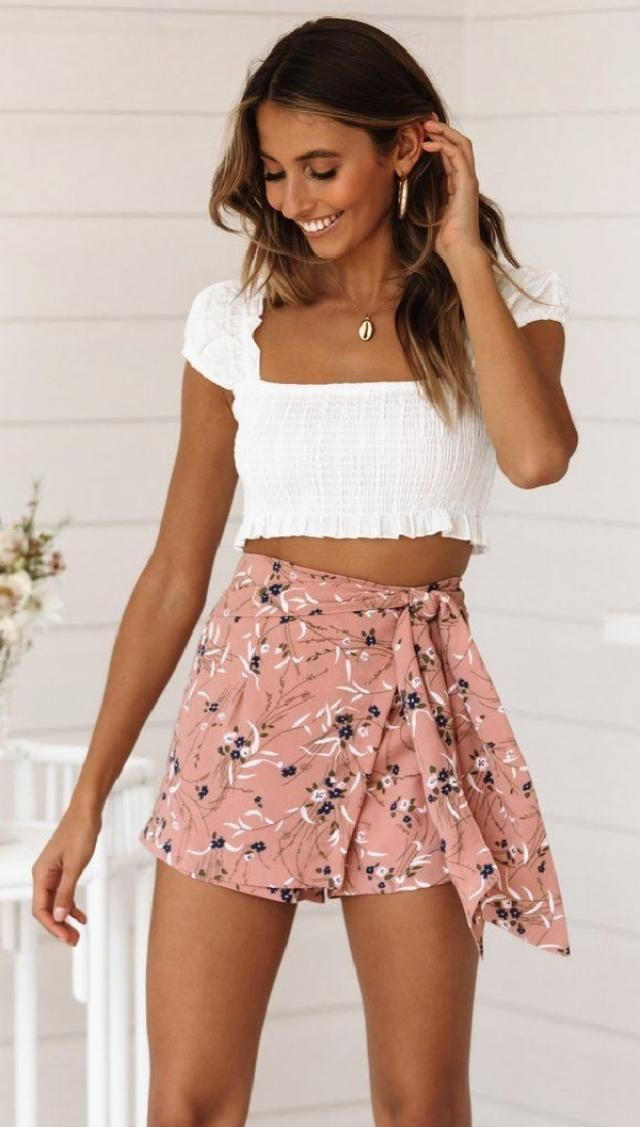 Get the perfect look for the summer fashion seasons in off shoulder crop top and mini skirt ensemble. The look is…