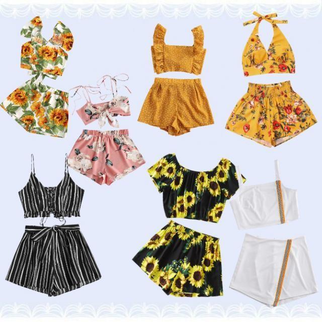 Ahora nuestro clima es muy caliente,  está a la moda usar estos tipos de conjuntos para nuestro día a día y sentirnos c…