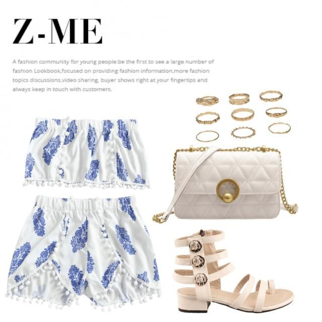 blue and white look