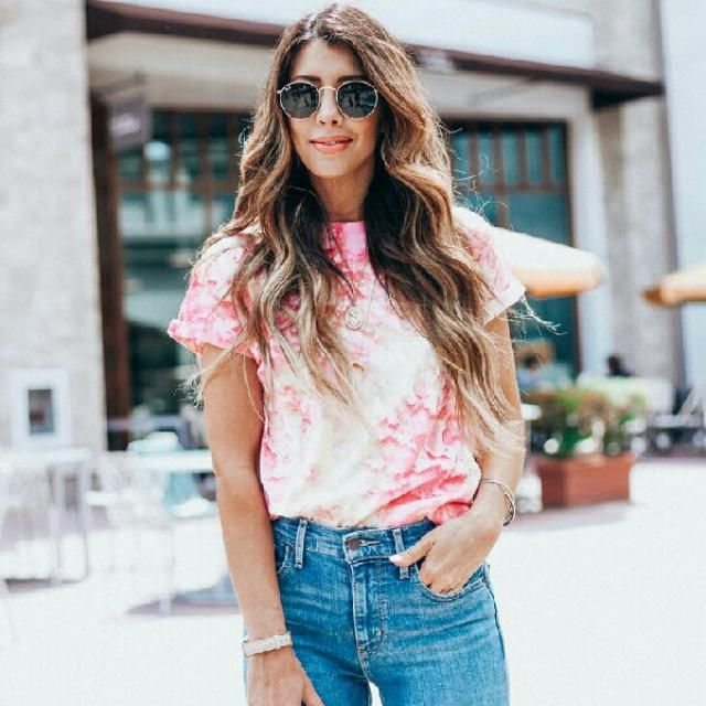 keep it stylish and cute with this casual tie dye t shirt