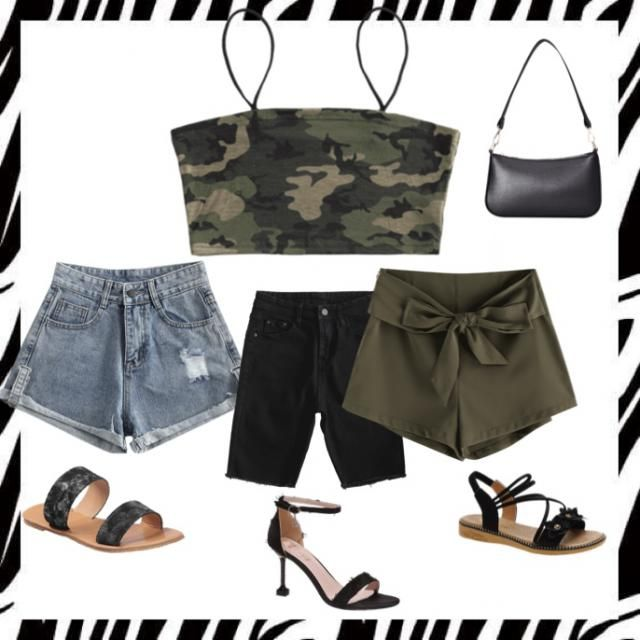 A camo crop top can be morning, afternoon and evening wear. Brunch? Throw on some boyfriend fit shorts and sandals, lun…