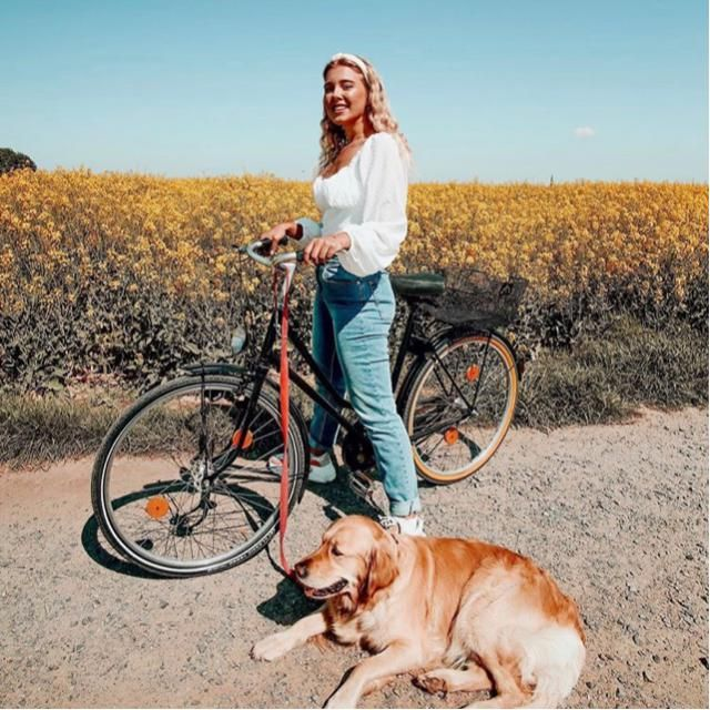 Bicycle with your puppy and enjoy the weather