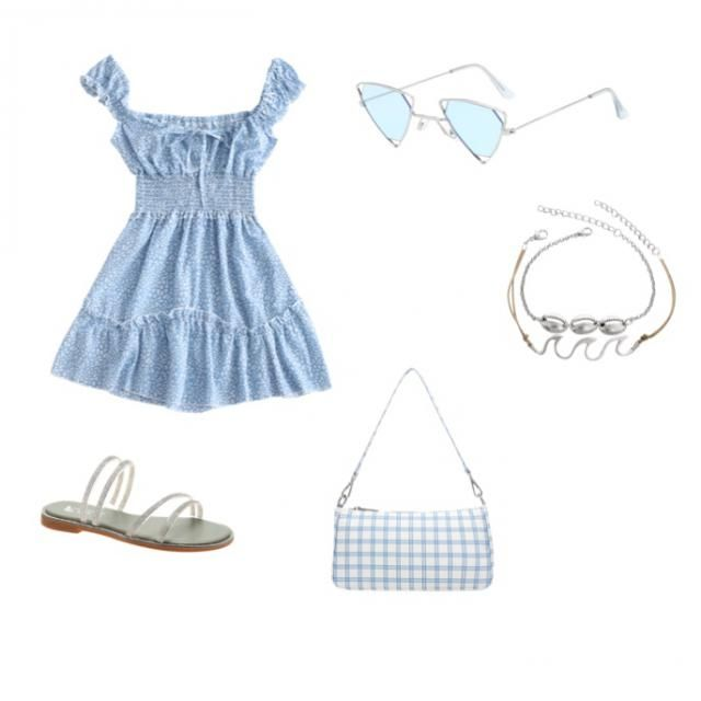 A blue inspired look that is just too adorable!💙 look beachy and summer ready with this.