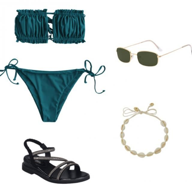 I can just see you strutting down the beach in this combo😍