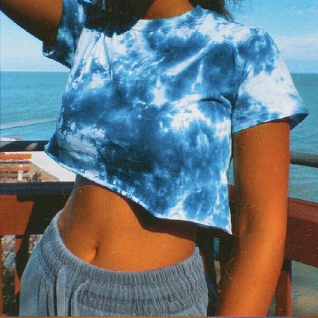 tie dye tees look so colorful and cool