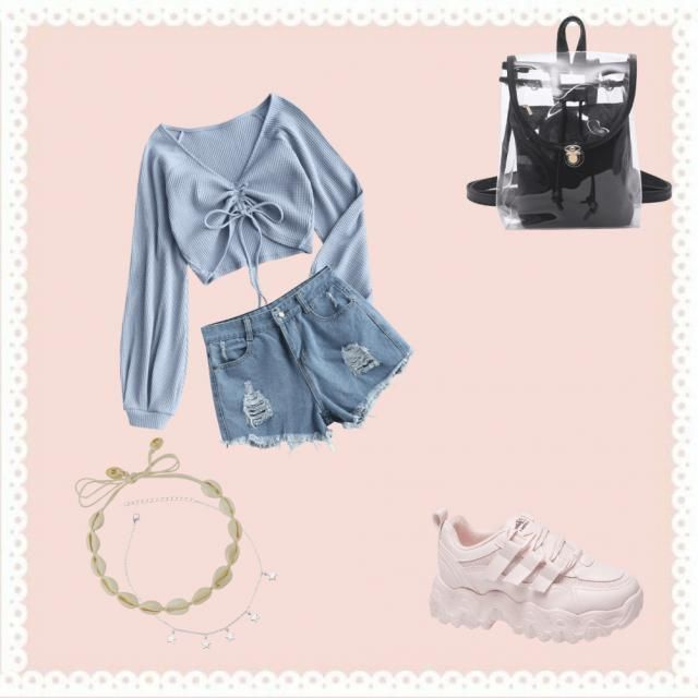 This very cute outfit is inspired by my day look. I did not find white sneakers but these were the most similar to the …