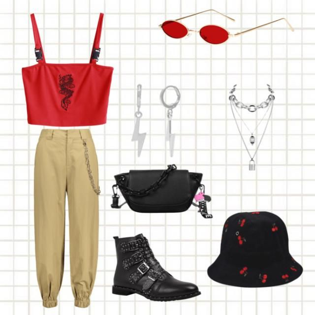 Red and black chain theme.