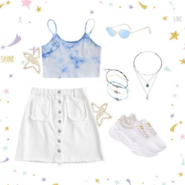 super cute summer tie dye outfit idea. original and trendy