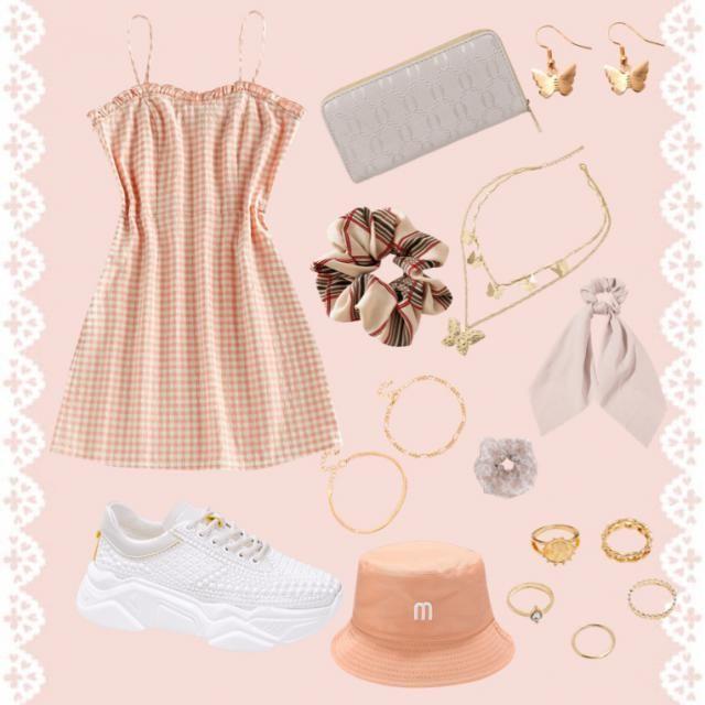 Peachy summer dress vibe ✨