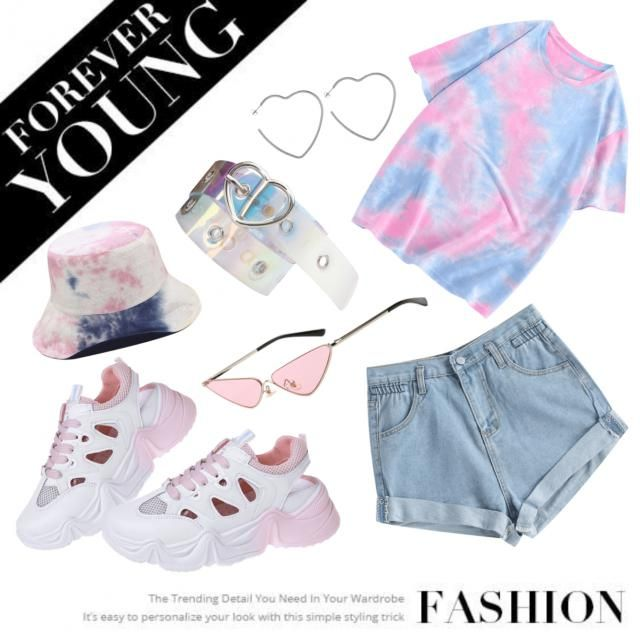 Casual pastel tiedye outfit