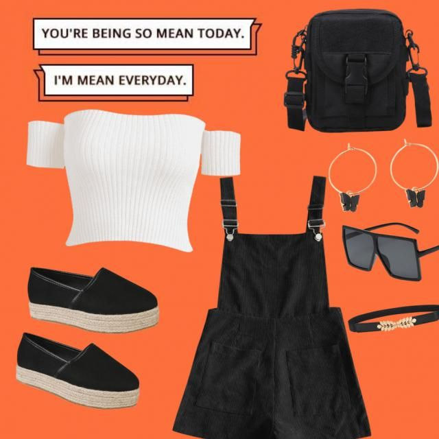 JUMPER WITH CROP TOP, BLACK SMALL MINI BAG, PEAR OF BUTERFLY EARINGS, BOOTS WITH SUNGLASSES AND A CHOCKER