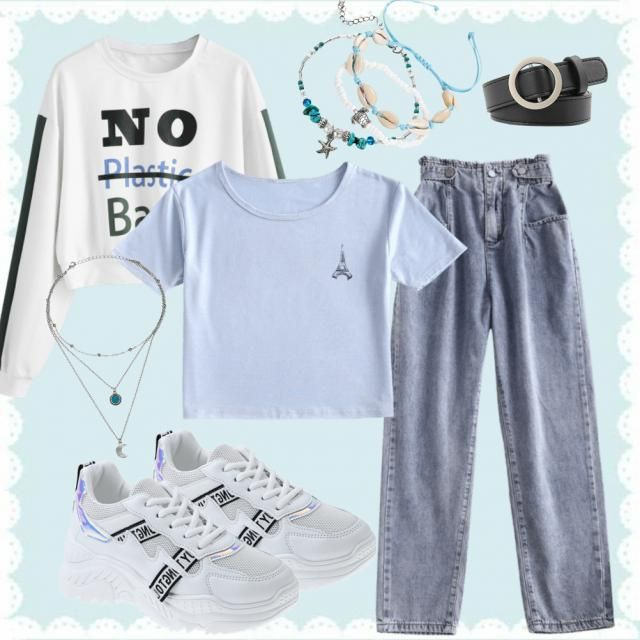 Basic Blue Outfit! Who&;s ready to purchase these items?!
