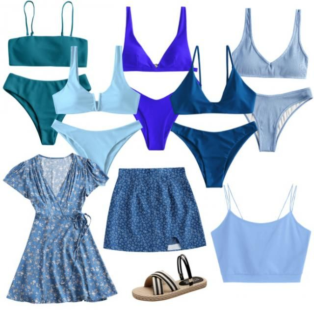 Blue outfits 2020