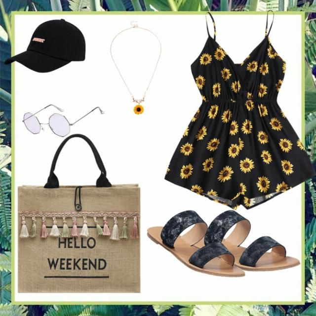 this simple perfect outfit is for weekends or Beatche day ❤❤