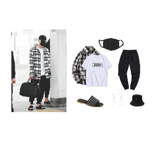 🤍🖤Yoongi inspired outfit 🖤🤍