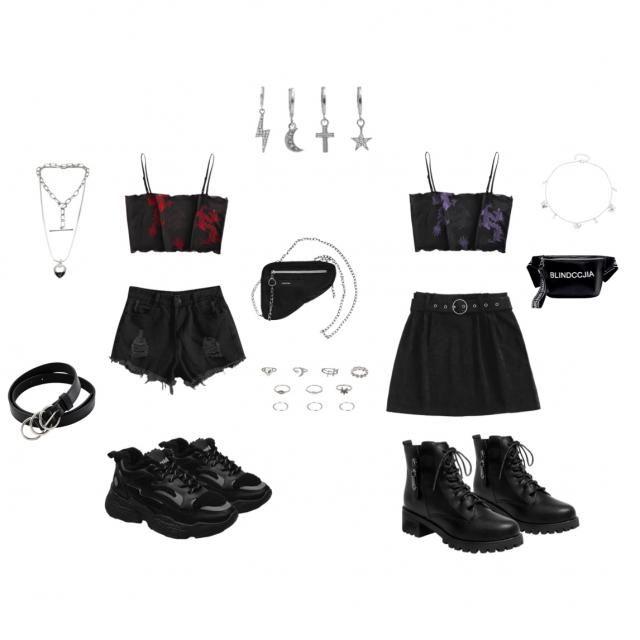 Matching Dragon mesh outfits//❤️💜🖤
