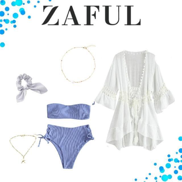 This is such a cute beach look. I love tge blue bikini soo much    ⛱️🌊
