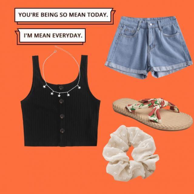 Un outfit per restare a casa e rimanere fresche con il caldo 🌡️🌡️☀️
