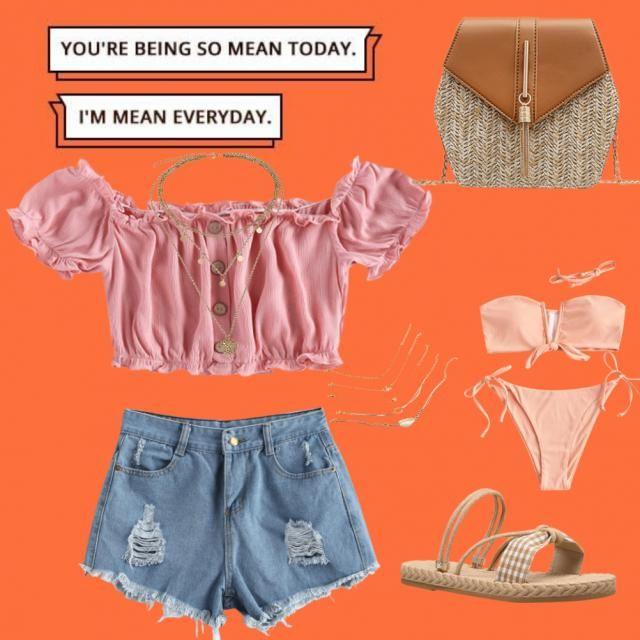 Un outfit perfetto per una giornata perfetta in spiaggia ☀️🌡️🌊🌊⛱️