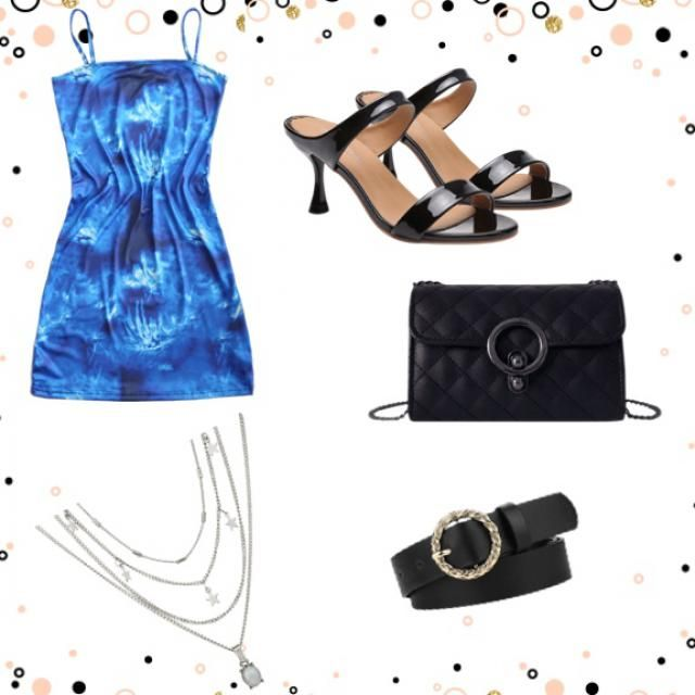 Chic blue summer outfit for beautiful sunny days.