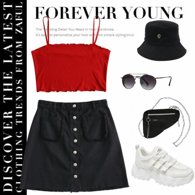 A simple and casual, yet cute outfit for people that love wearing black or dark colors even on summer and still want …