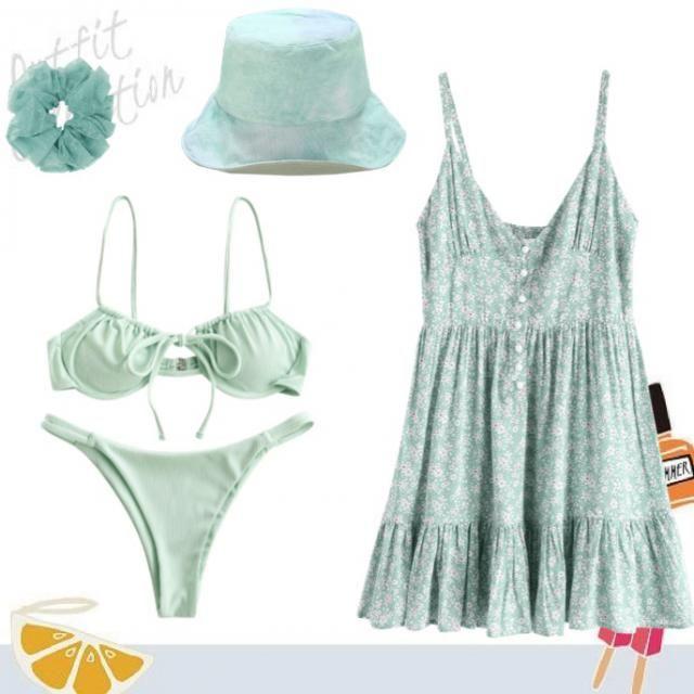 a cute beach day outfit 👙⛱