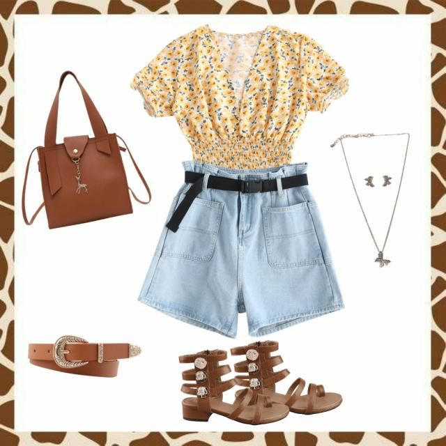 Cute summer look 😘 This is something I&;d wear to go for a walk in the park, roing around the ci…