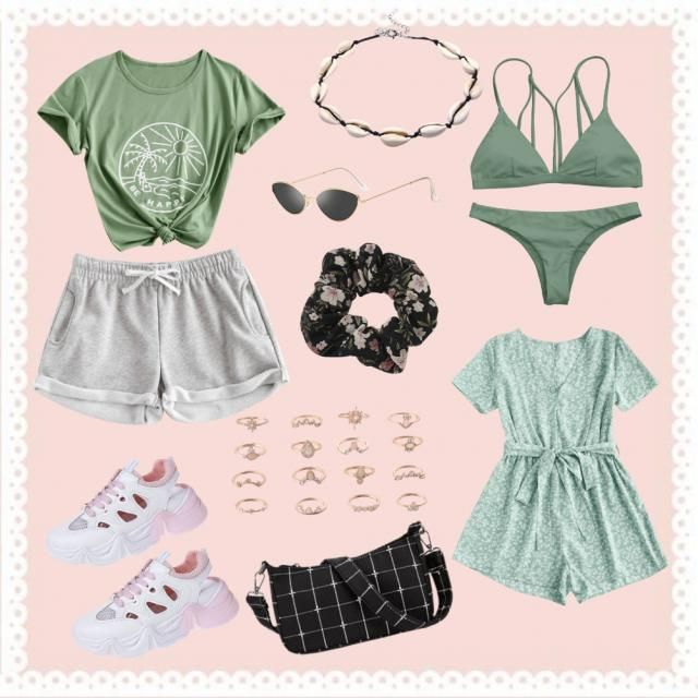 some green outfits