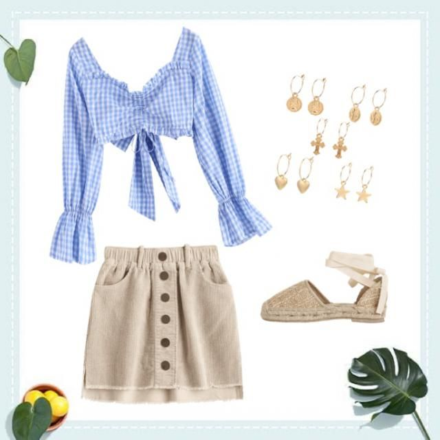 summer date look!💙🤍