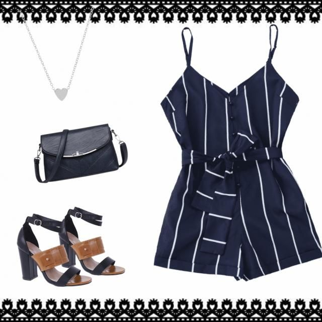 Navy blue has a way of making outfits look so classy. 🙌 Coupled with these heels, cross…