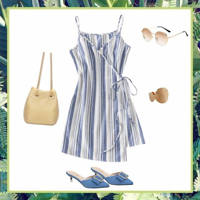 I love this dress 😍 This outfit gives me beachy vibes, date night vibes, work wear vibes, just all the…