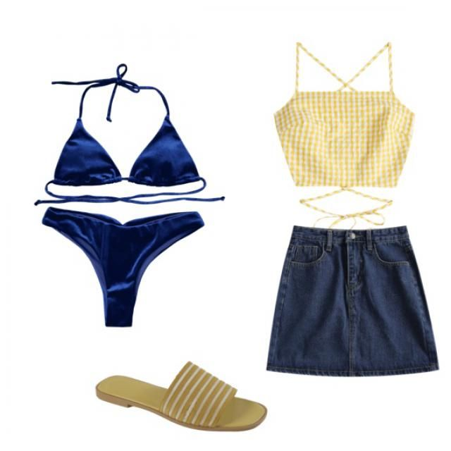 I have been obsessed about this color combo ever since I was little. It's a nice beach look!
