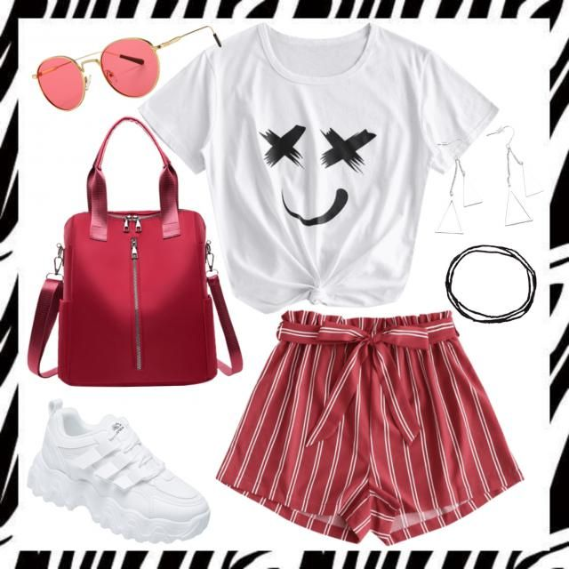 Casual Red & White