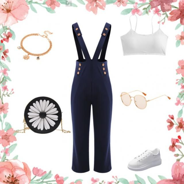 Summer outfit, simple but with good accessories who make the difference.  Very for a Day Party or date ;)