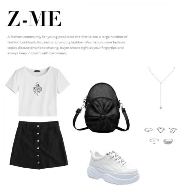 Casual black and white look