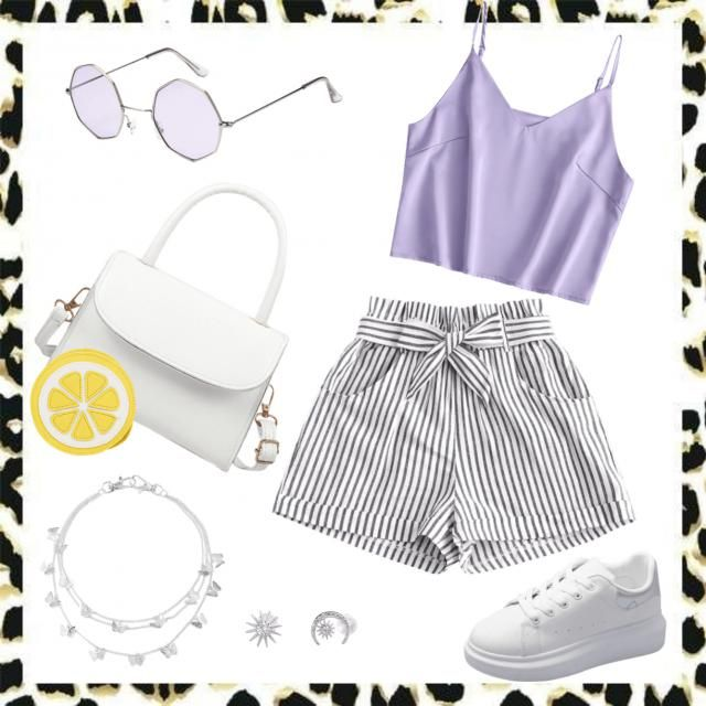 Casual Purple and White ♡