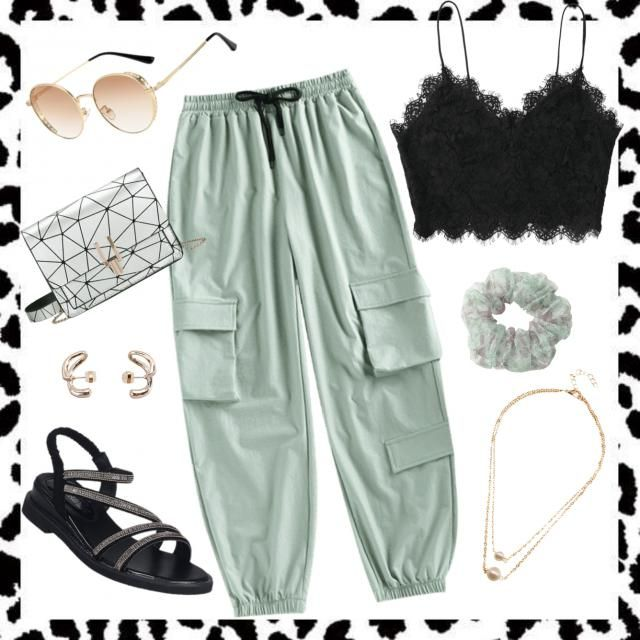 Casual Green and Black ♡
