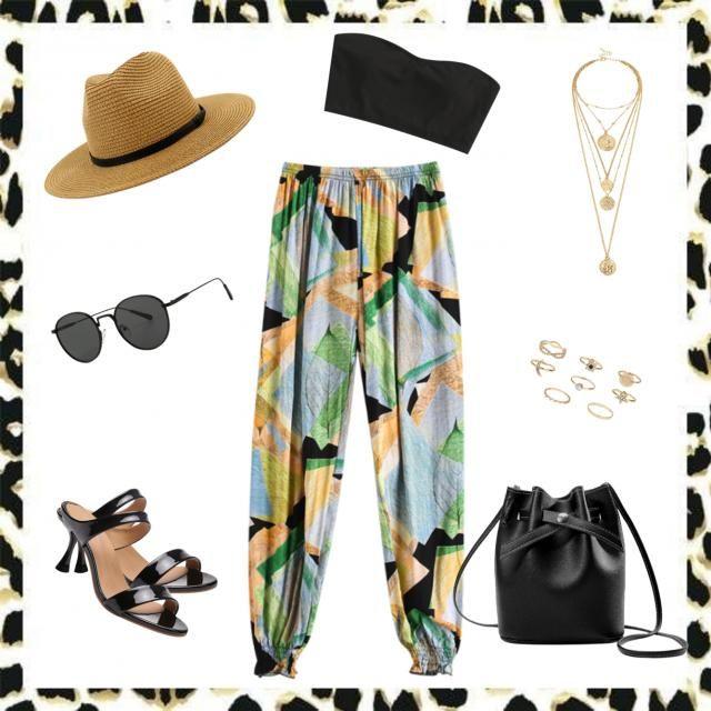 Casual Black + Straw Beachy Street Chic. 🖤