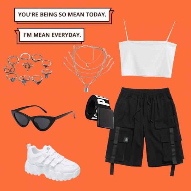 Tomboy style with men   and a simple  styled with silver jewelry   topped with white sneakers and  .