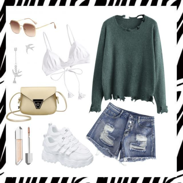 Casual Green and White. 💚