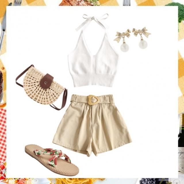 Simple cute look :) good for going to the farmers market or around the city on a hot day