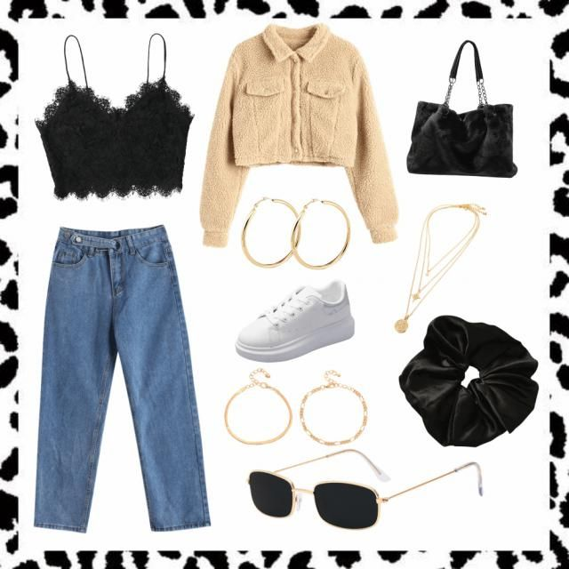 Winter outfit🖤🤍💛