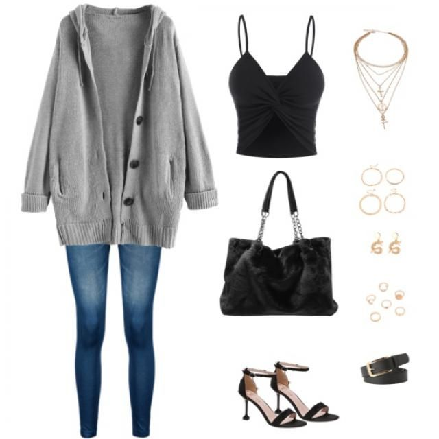 simple outfit with some cute accessories.
